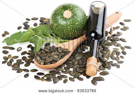 Pumpkin Seed Oil, Raw Pumkin And Seeds