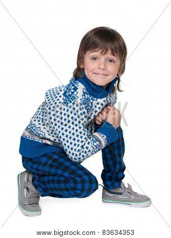 Fashion Smiling Little Boy