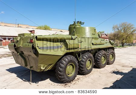Nona-svk 120Mm Self-propelled Mortar Carrier On Wheeled Chassis Of The Btr-80