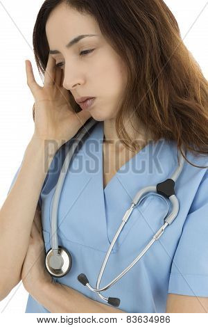 Stressed Medical Worker
