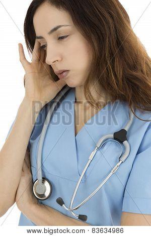 Stressed Medical Worker