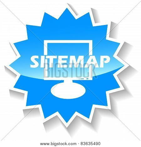 Sitemap blue icon
