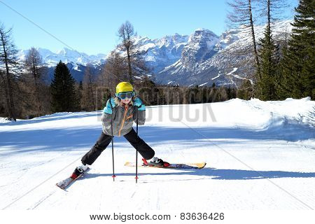 Girl And Alps