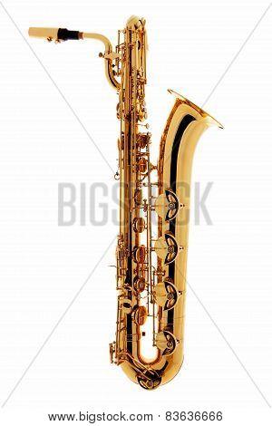 Saxophone Over White Background