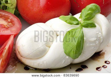 Mozzarella and tomatoes