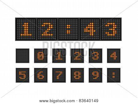 Set vector pixel numbers of lighting bulb