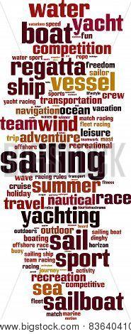 Sailing Word Cloud