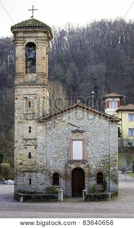 Fortunago (PV), ancient church. Color image