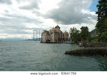 Chateau De Chillon Nearby Montreux In Switzerland