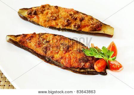 Stuffed Eggplant Baked