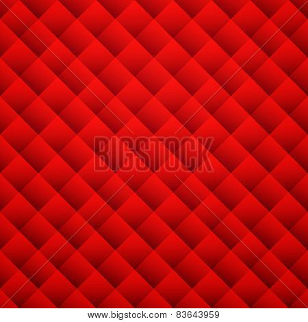Red texture background. Leather seamless pattern. Vector