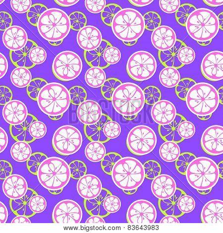 Abstract citrus fruit seamless pattern. Vector illustration