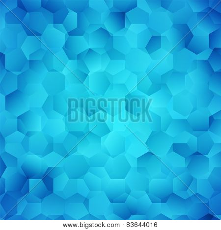 Abstract bright blue wallpaper. Vector illustration