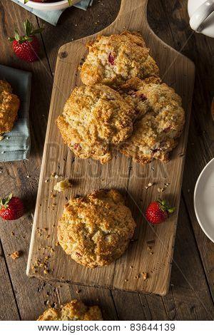 Homemade Strawberry Scones For Breakfast
