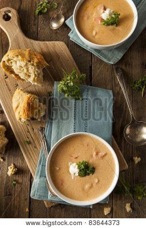 Homemade Lobster Bisque Soup