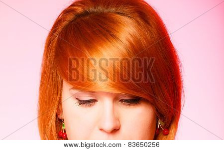Pretty Red Haired Girl.
