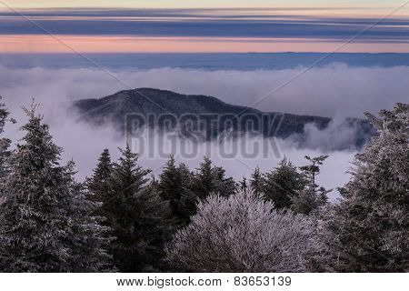 Appalachian Mountains In The Winter