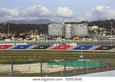 Rostrum of Sochi International Street Circuit.
