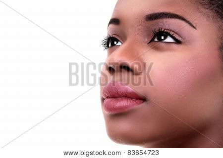 African American black woman skin and makeup