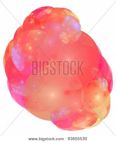 Colored Bubble Suds Isolated On White