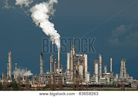 Oil refinery in Anacortes Washington