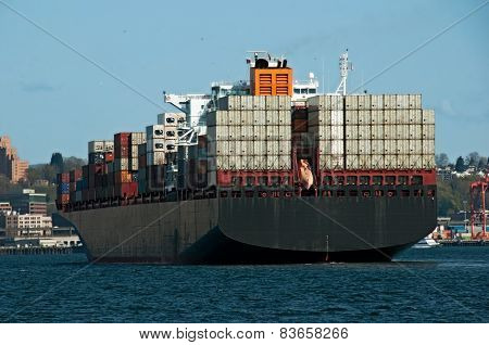Cargo Ship entering the harbor