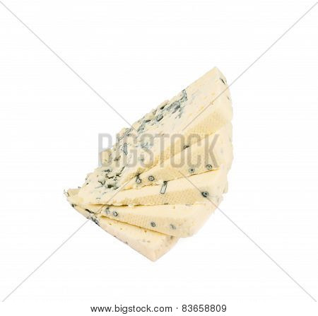 Danablue danish blue cheese isolated