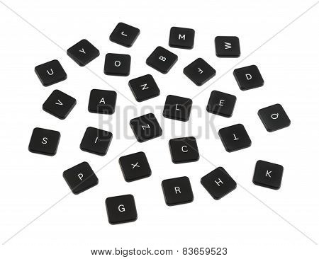 Black keyboard button composition isolated