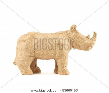 Rhinoceros rhino sculpture isolated