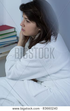 Close-up Of Depressed Woman