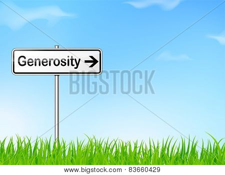 Generosity Direction Sign