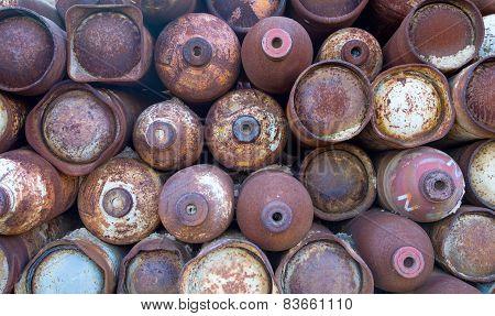Old welding bottles
