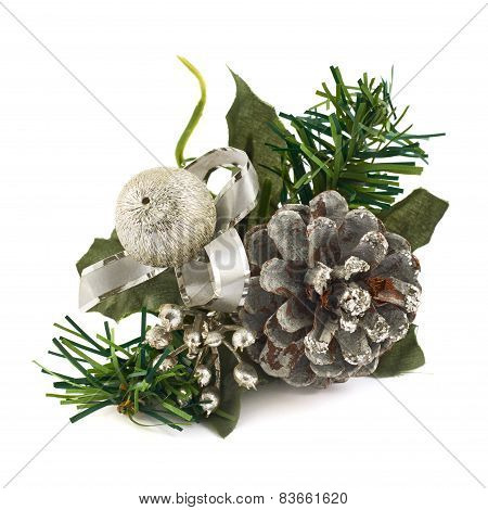 Fir-tree branch christmas decoration
