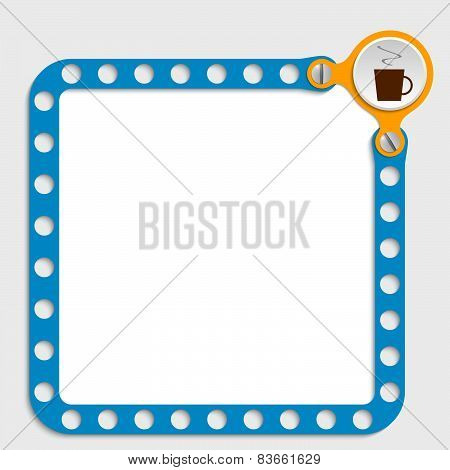 Blue Frame For Any Text