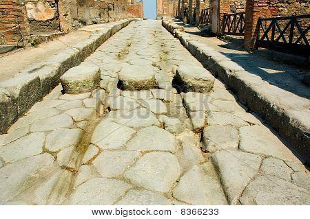 Roman Street In Pompeii