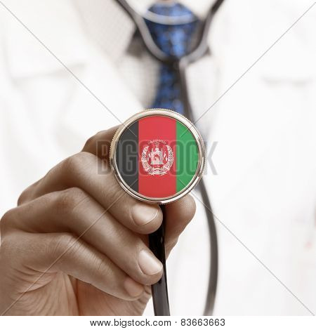 Stethoscope With National Flag Conceptual Series - Afghanistan