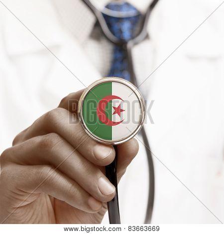 Stethoscope With National Flag Conceptual Series - Algeria
