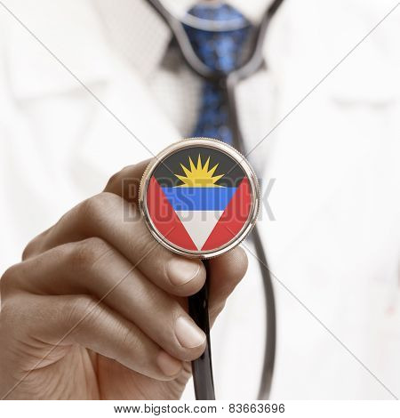 Stethoscope With National Flag Conceptual Series - Antigua And Barbuda