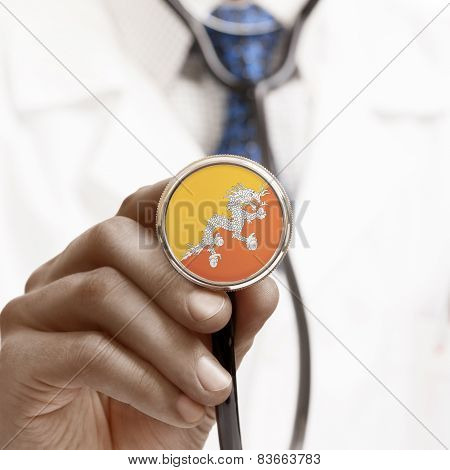 Stethoscope With National Flag Conceptual Series - Bhutan