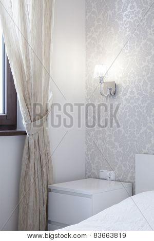 Nightstand In Romantic Bedroom