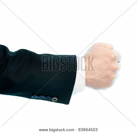 Caucasian male hand composition isolated