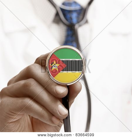 Stethoscope With National Flag Conceptual Series - Mozambique