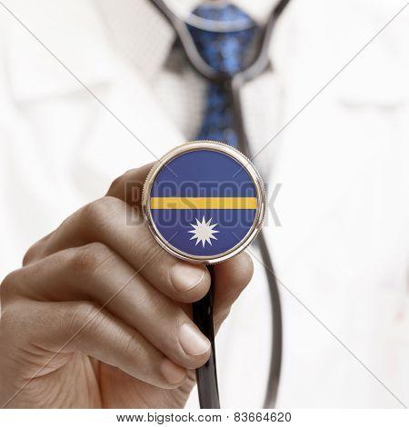 Stethoscope With National Flag Conceptual Series - Nauru