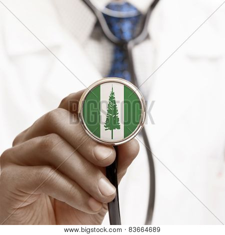 Stethoscope With National Flag Conceptual Series - Norfolk Island