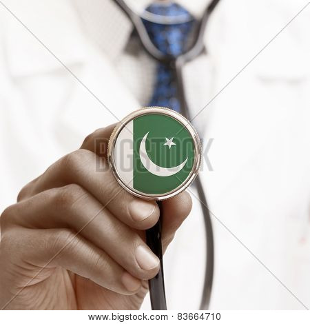 Stethoscope With National Flag Conceptual Series - Pakistan