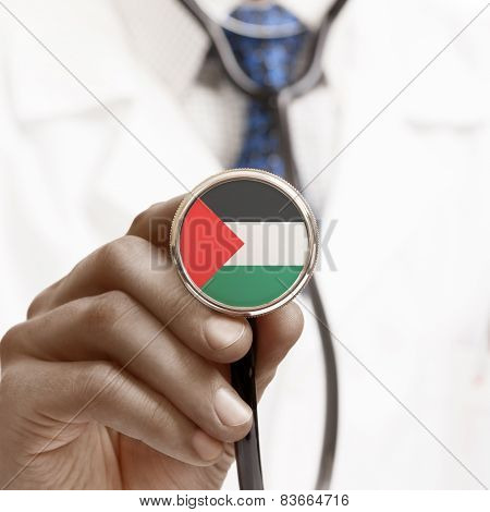 Stethoscope With National Flag Conceptual Series - Palestine
