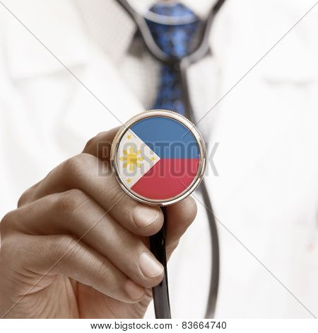 Stethoscope With National Flag Conceptual Series - Philippines