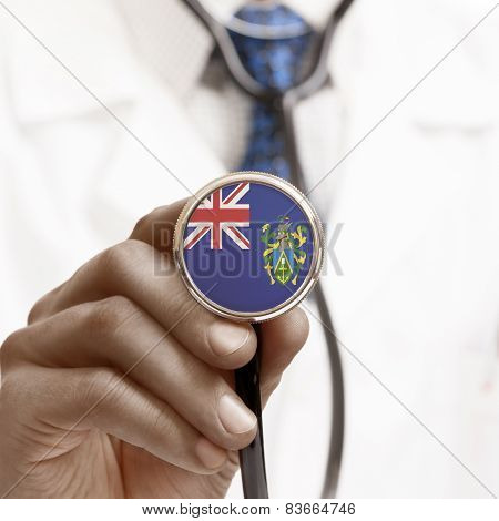 Stethoscope With National Flag Conceptual Series - Pitcairn Island
