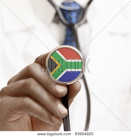 Stethoscope With National Flag Conceptual Series - South Africa Republic