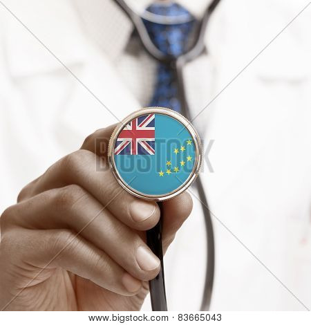 Stethoscope With National Flag Conceptual Series - Tuvalu